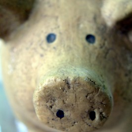 how long to grill bone in pork chops - picture of a wooden pig