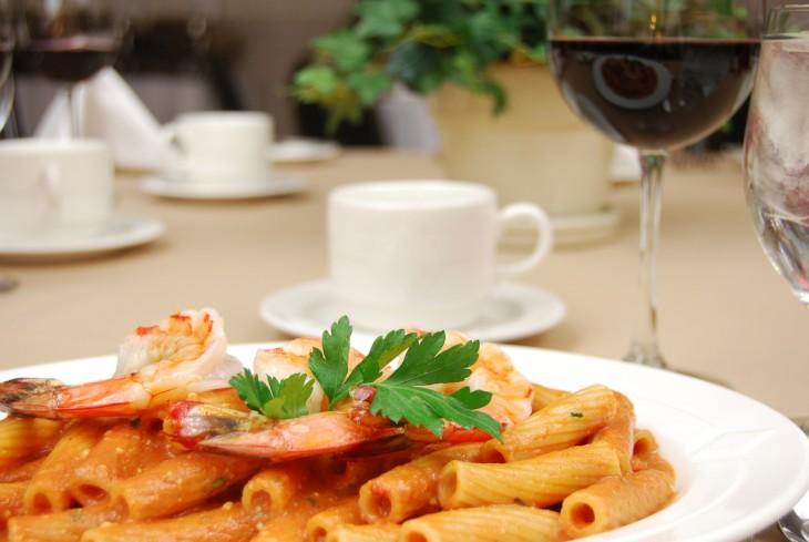 takeaway menu pasta and sauce